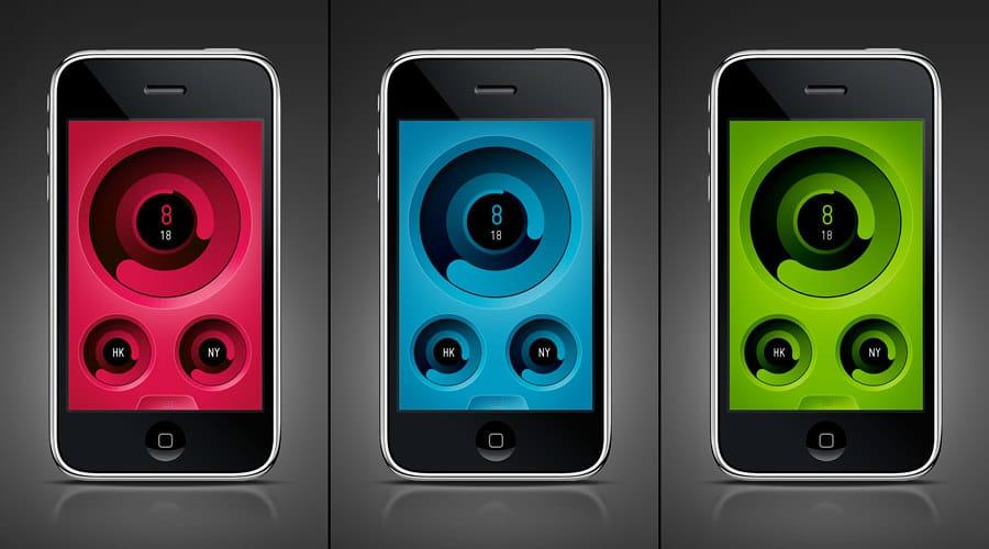 iPhone iOS App ZIIIRO Watches