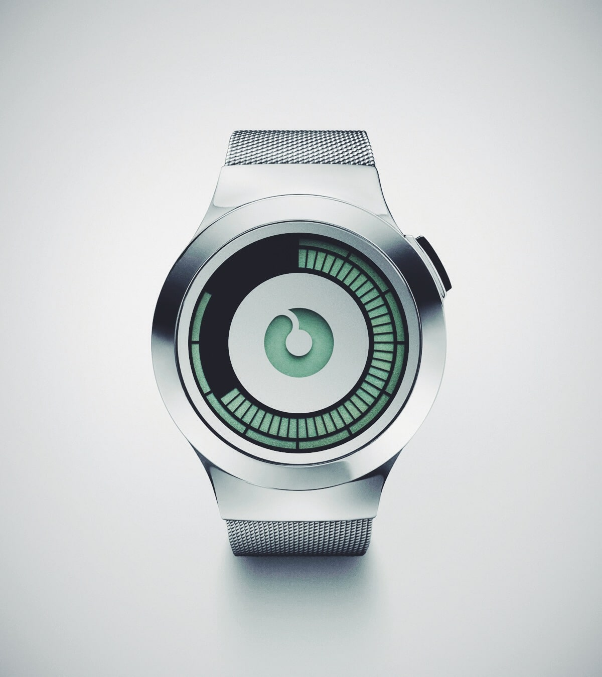 ZIIIRO Saturn Silver Electronic Watch