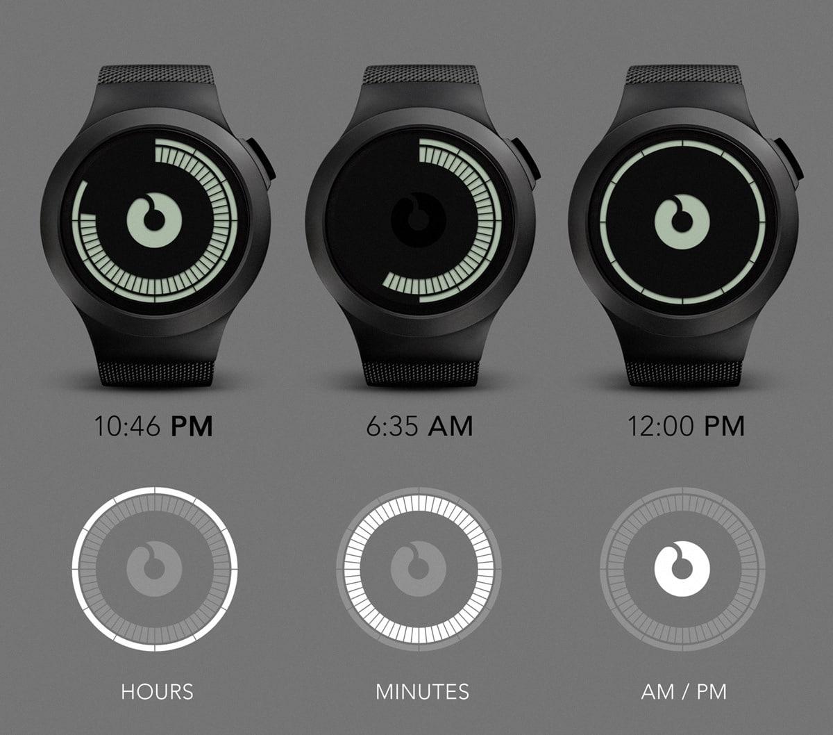 ZIIIRO Saturn Pocket Watch How to Read Time