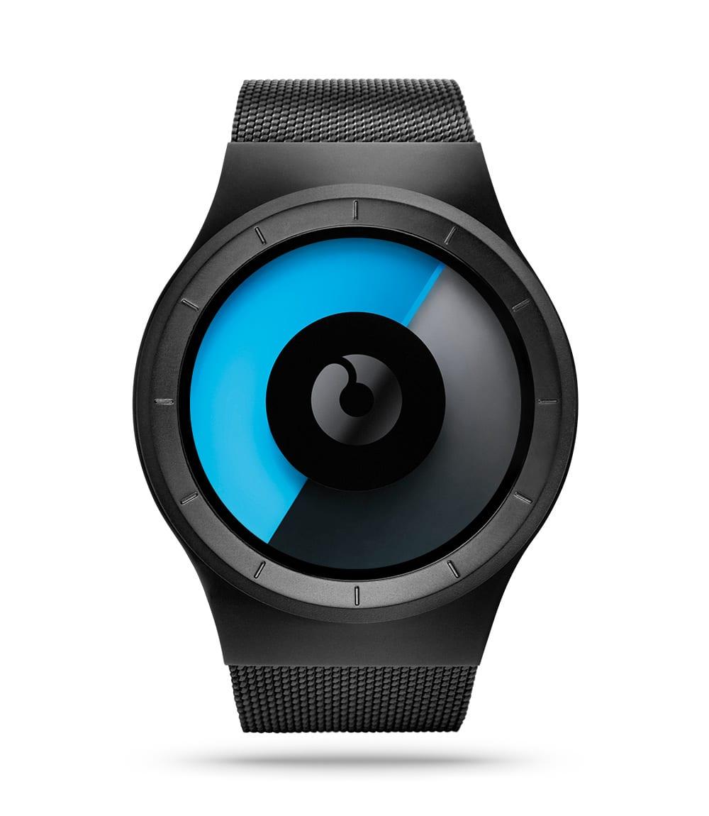 ZIIIRO Celeste Black Mono Watch Front