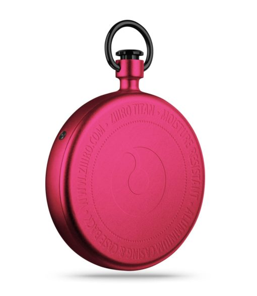 ZIIIRO Titan Cherry Pocket Watch Back