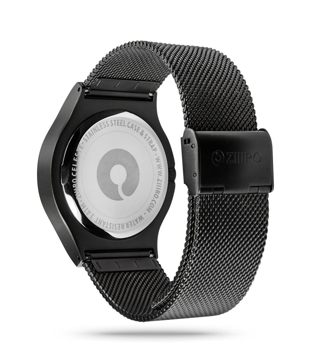 ZIIIRO Celeste Black Watch Back Side