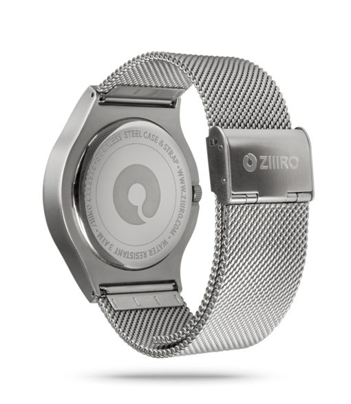 ZIIIRO Celeste Chrome Watch Back Side