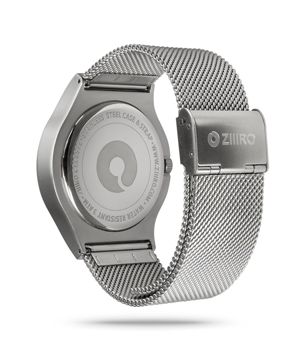ZIIIRO Celeste Chrome Watch Back Side