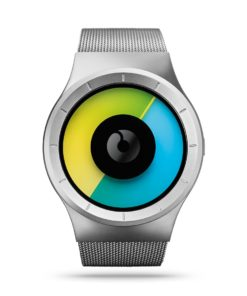 ZIIIRO Celeste Chrome Colored Watch Front