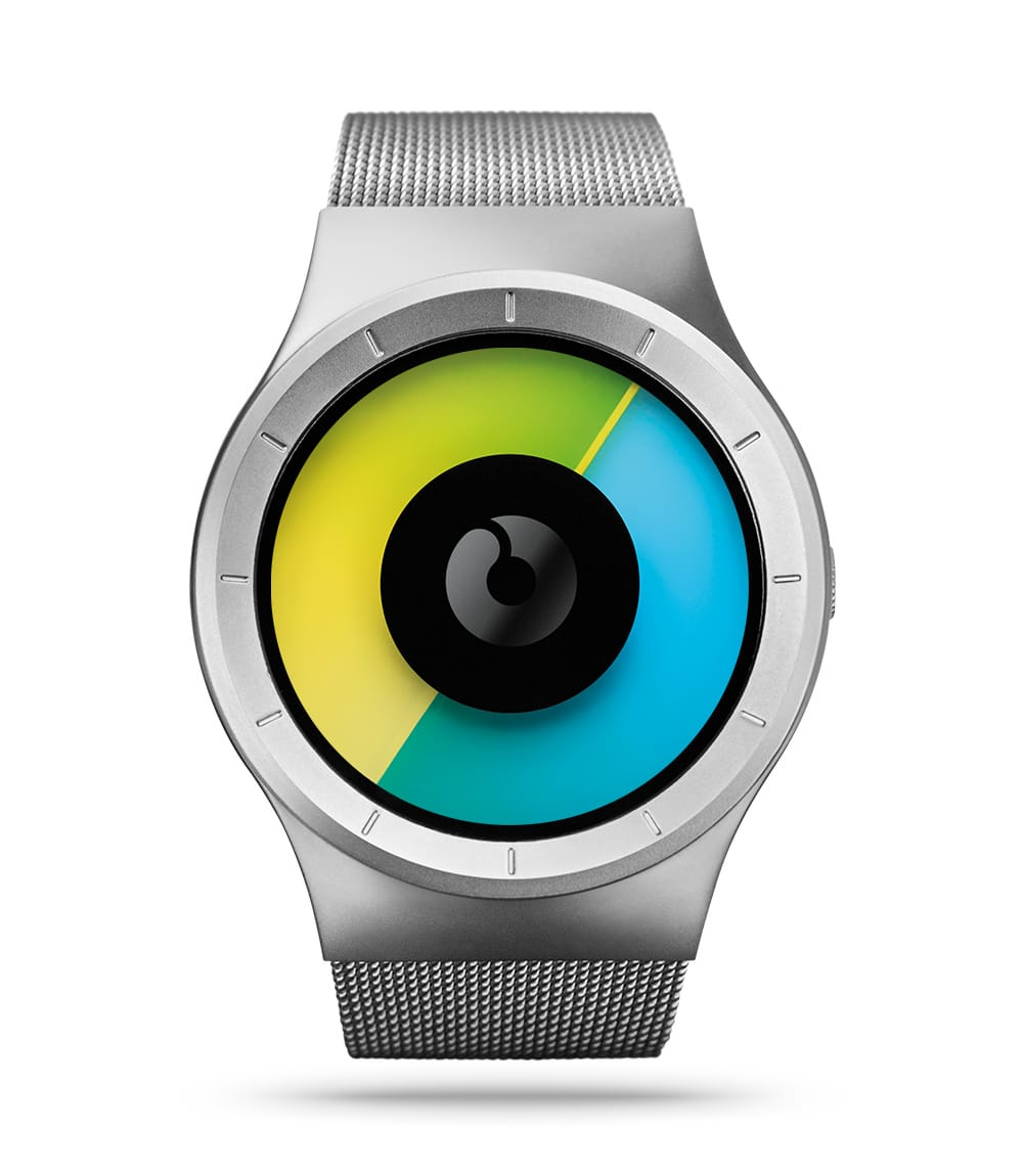 ZIIIRO Celeste Chrome Colored Watch Front