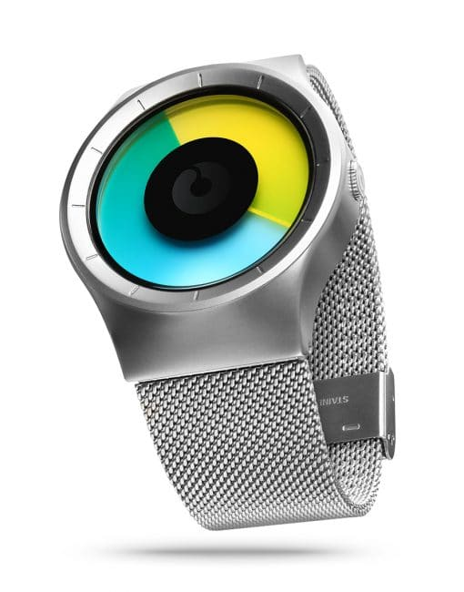 ZIIIRO Celeste Chrome Colored Watch Perspective Side