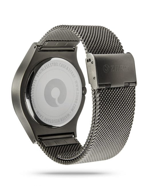 ZIIIRO Celeste Gunmetal Watch Back Side
