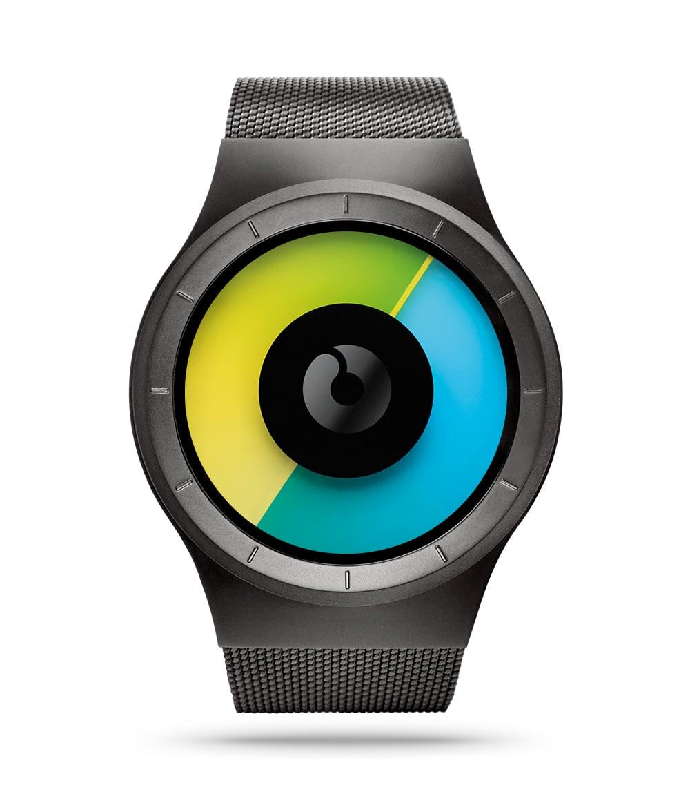 ZIIIRO Celeste Gunmetal Colored Watch Front