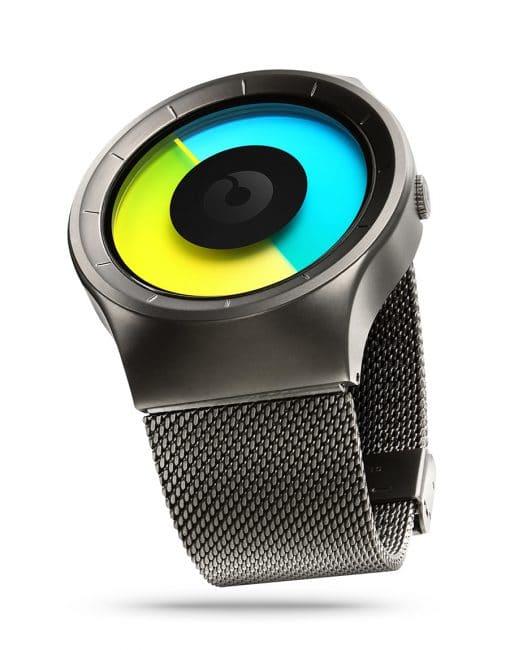 ZIIIRO Celeste Gunmetal Colored Watch Perspective Side