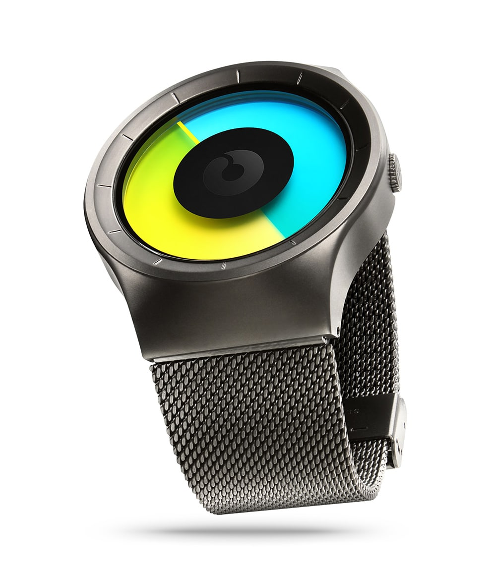 ZIIIRO Celeste Gunmetal Colored Watch Perspective Side