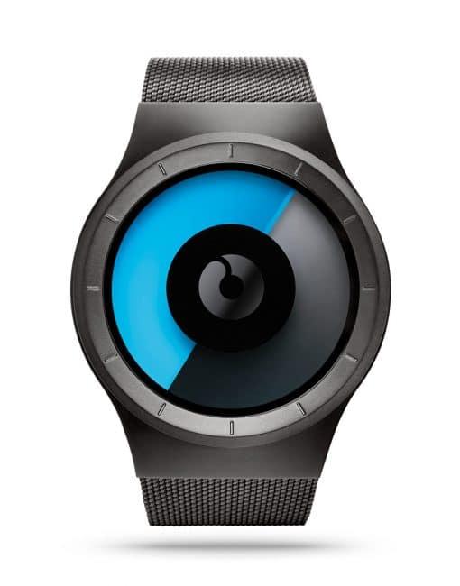 ziiiro-celeste-watch-gunmetal-mono-front