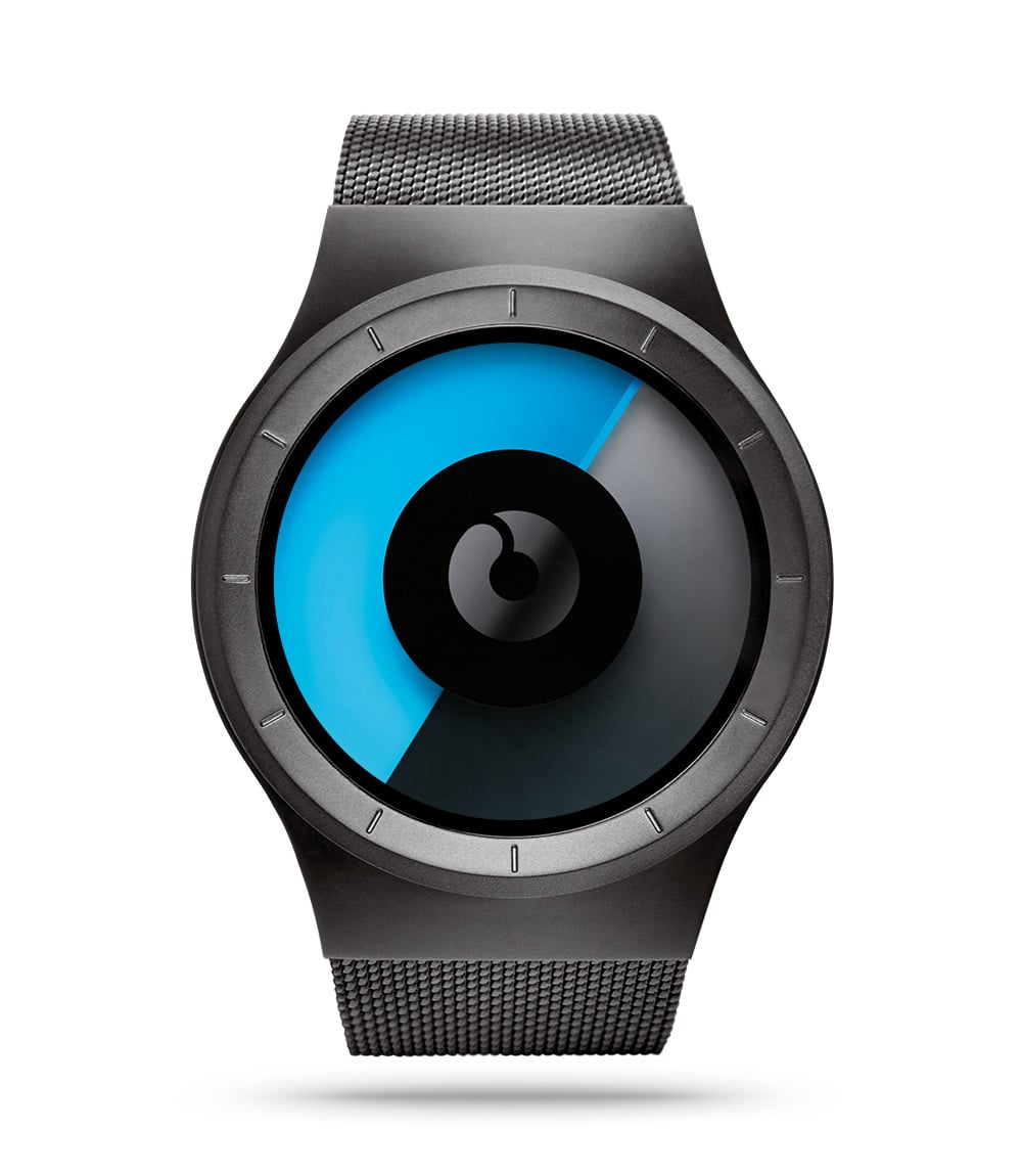 ZIIIRO Celeste Gunmetal Mono Watch Front