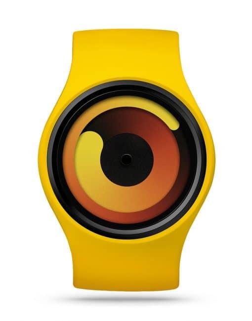 ziiiro-gravity-watch-banana-yellow-front