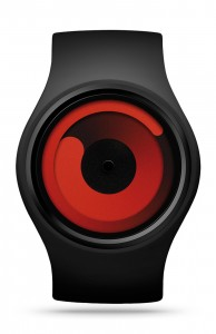 ZIIIRO Gravity Black Red Watch Front Interchangeable