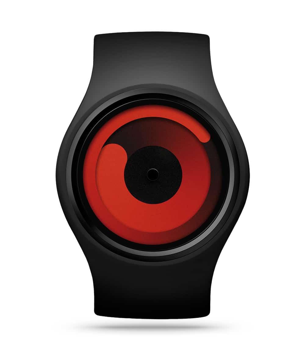 ZIIIRO Gravity Black Red Watch Front Interchangeable