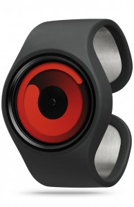 ZIIIRO Gravity Black Red Watch Perspective Interchangeable