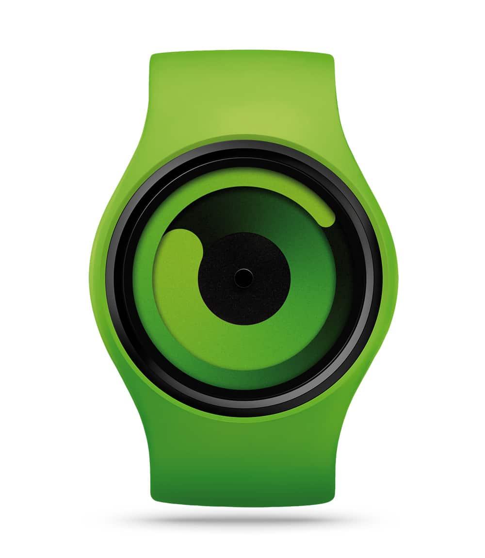 ZIIIRO Gravity Green Watch Front Interchangeable