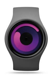 ZIIIRO Gravity Grey Purple Watch Front Interchangeable
