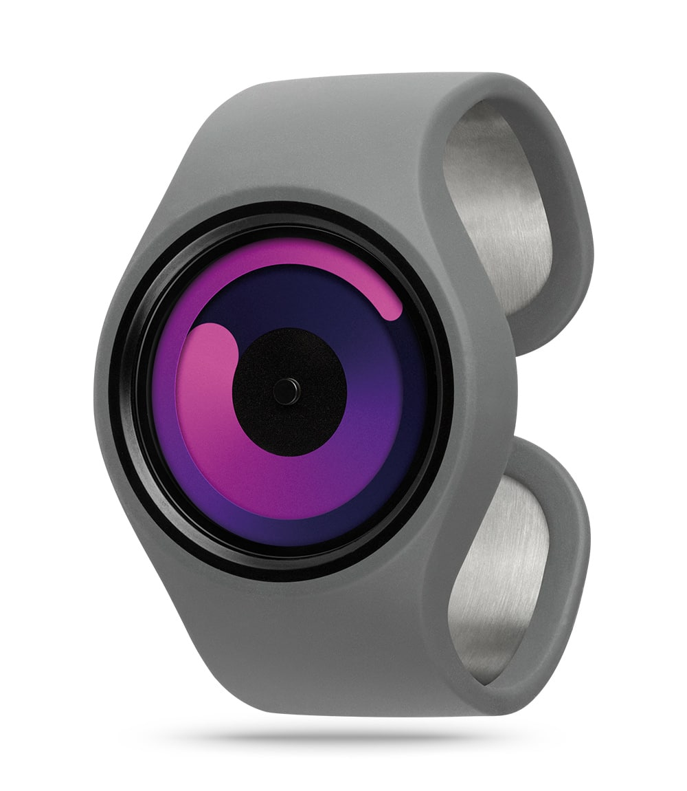 ZIIIRO Gravity Grey Purple Watch Perspective Interchangeable