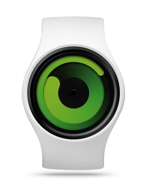 ziiiro-gravity-watch-snow-white-green-front