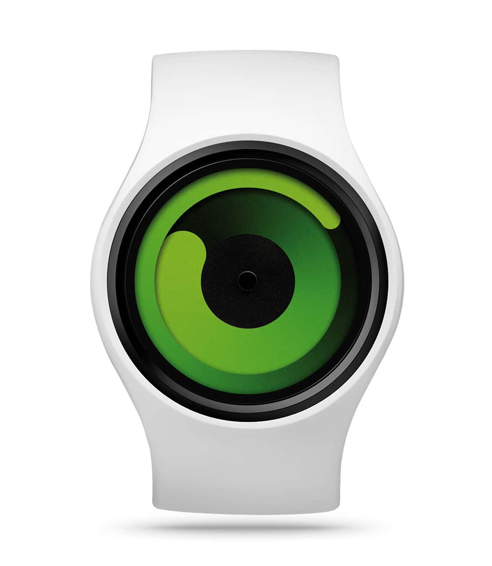 ZIIIRO Gravity Snow Green Watch Front Interchangeable