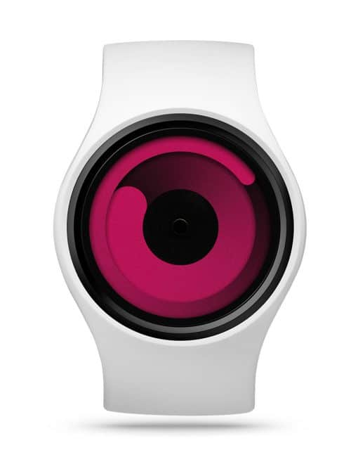 ziiiro-gravity-watch-snow-white-magenta-front