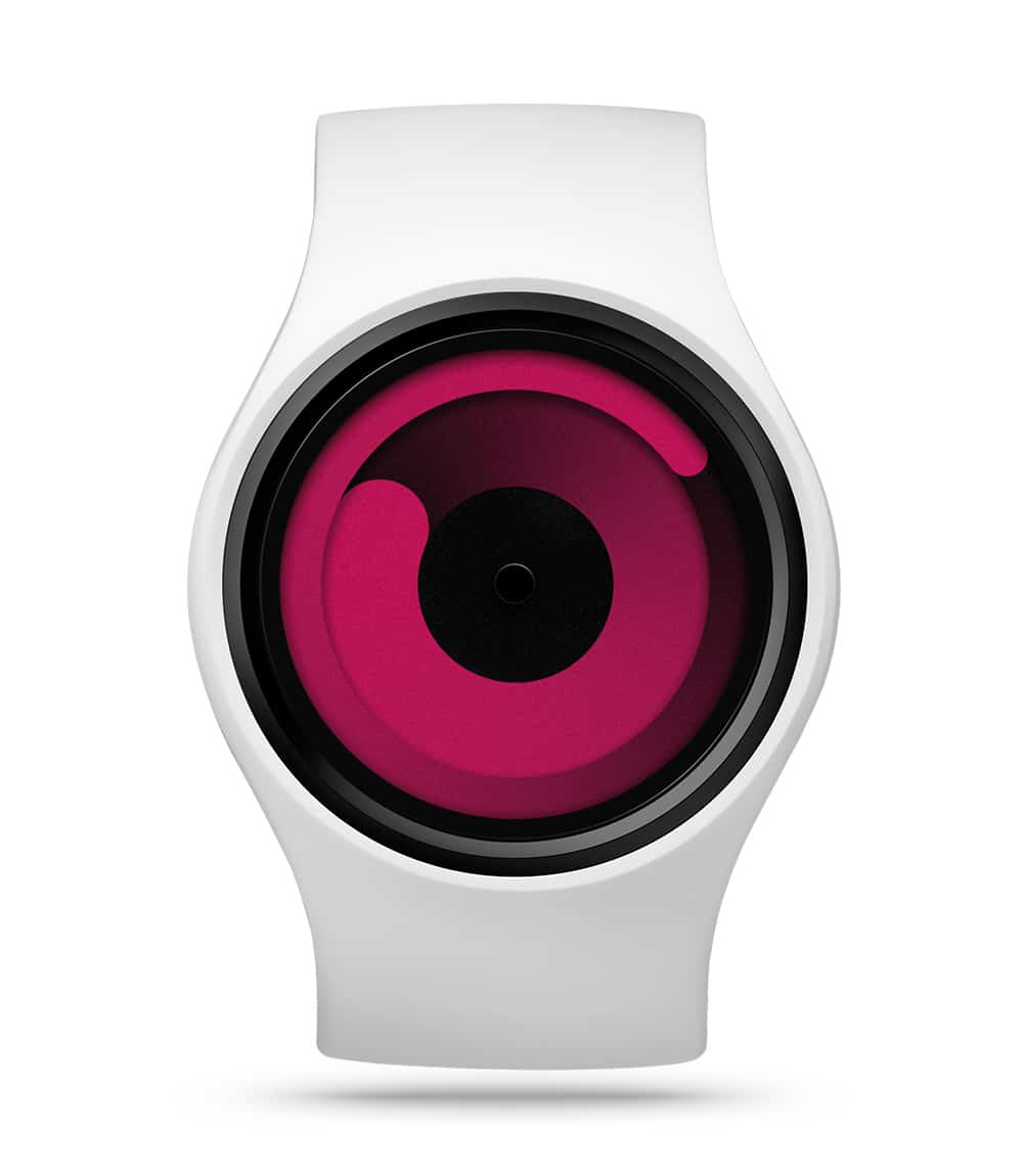 ZIIIRO Gravity Snow Magenta Watch Front Interchangeable