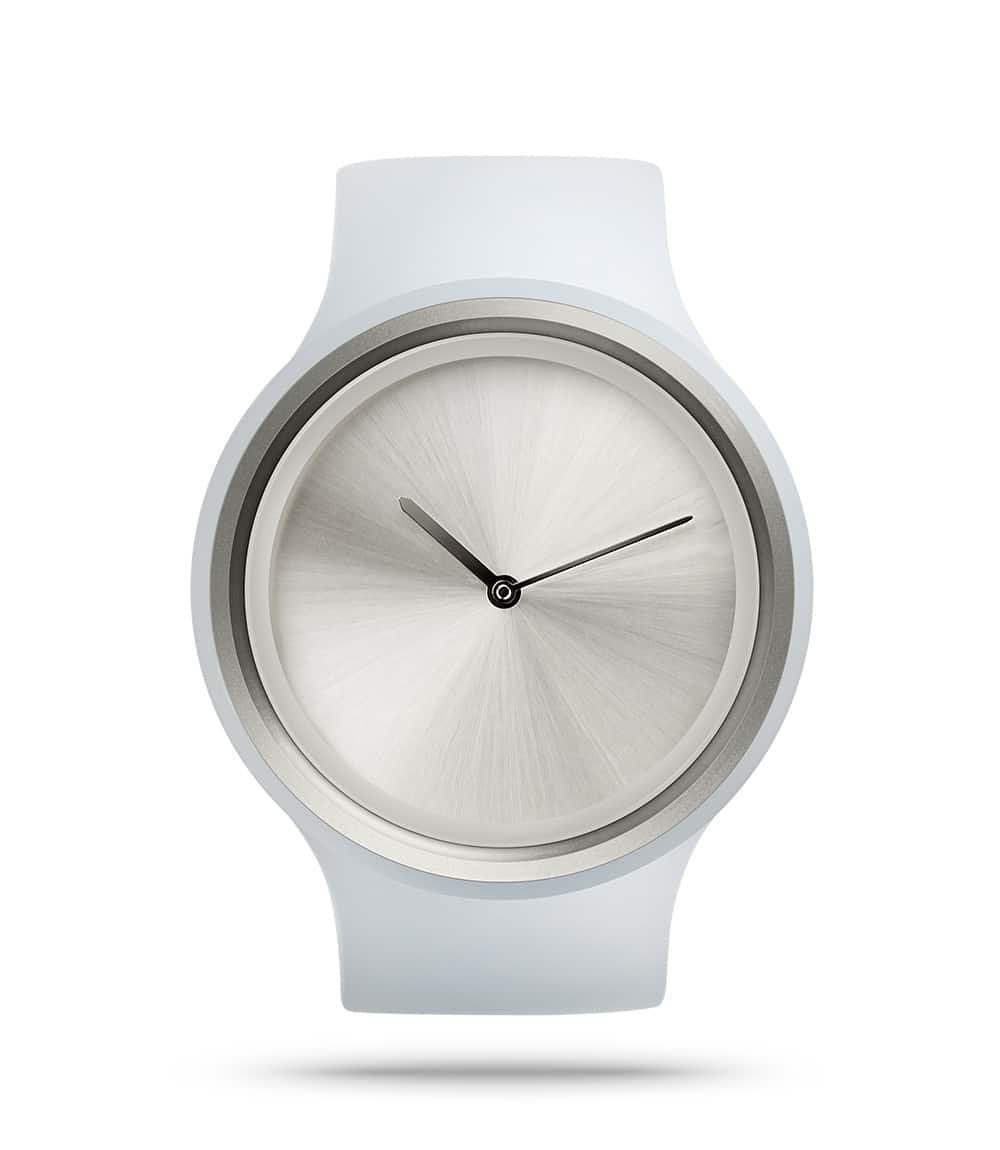 ZIIIRO Ion Milky White Watch Front Interchangeable