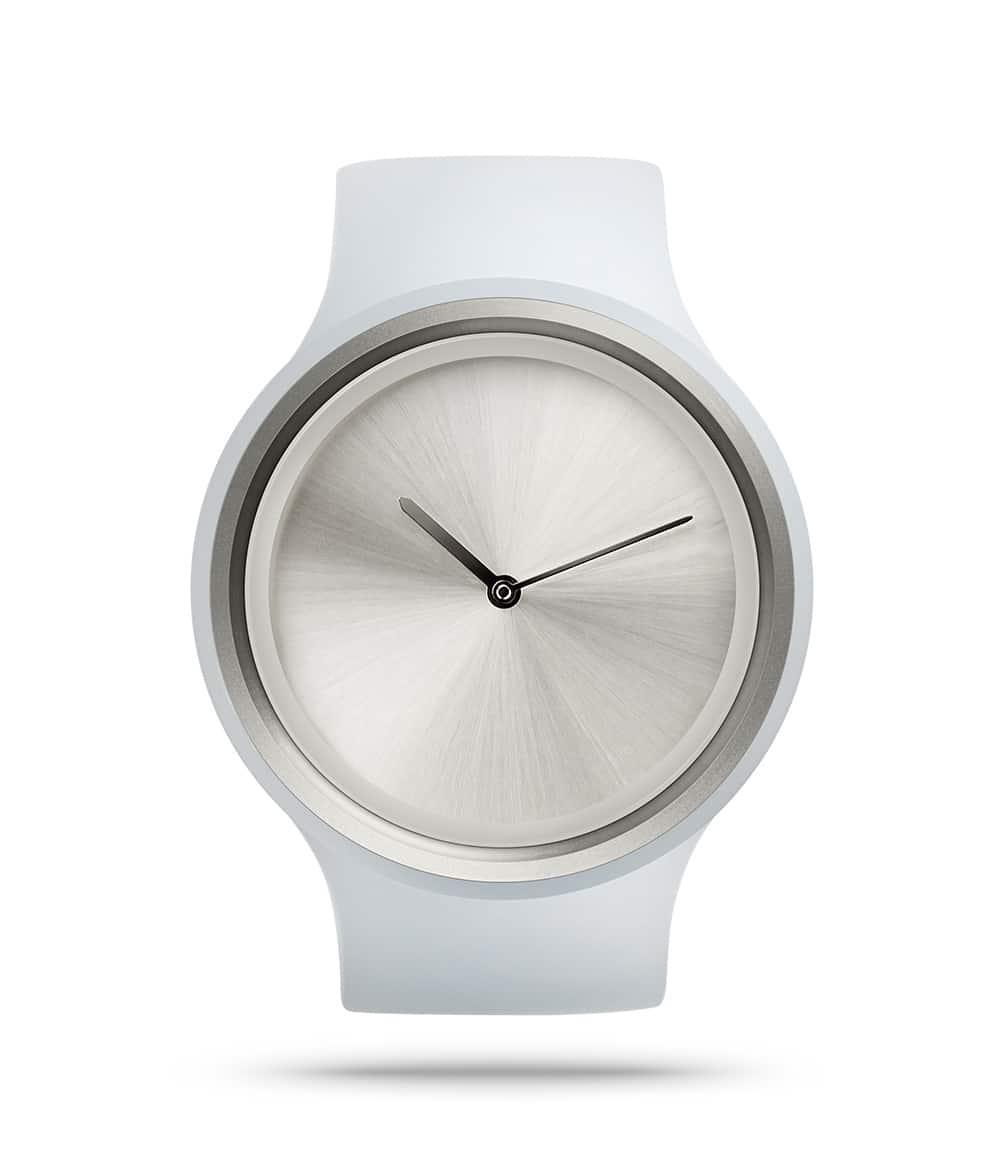 ZIIIRO Ion Milky White Watch Front Interchangeable