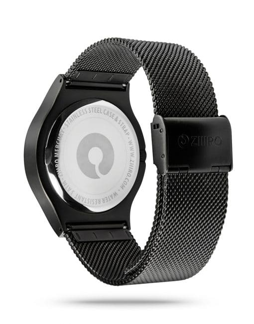 ZIIIRO Mercury Black Watch Back