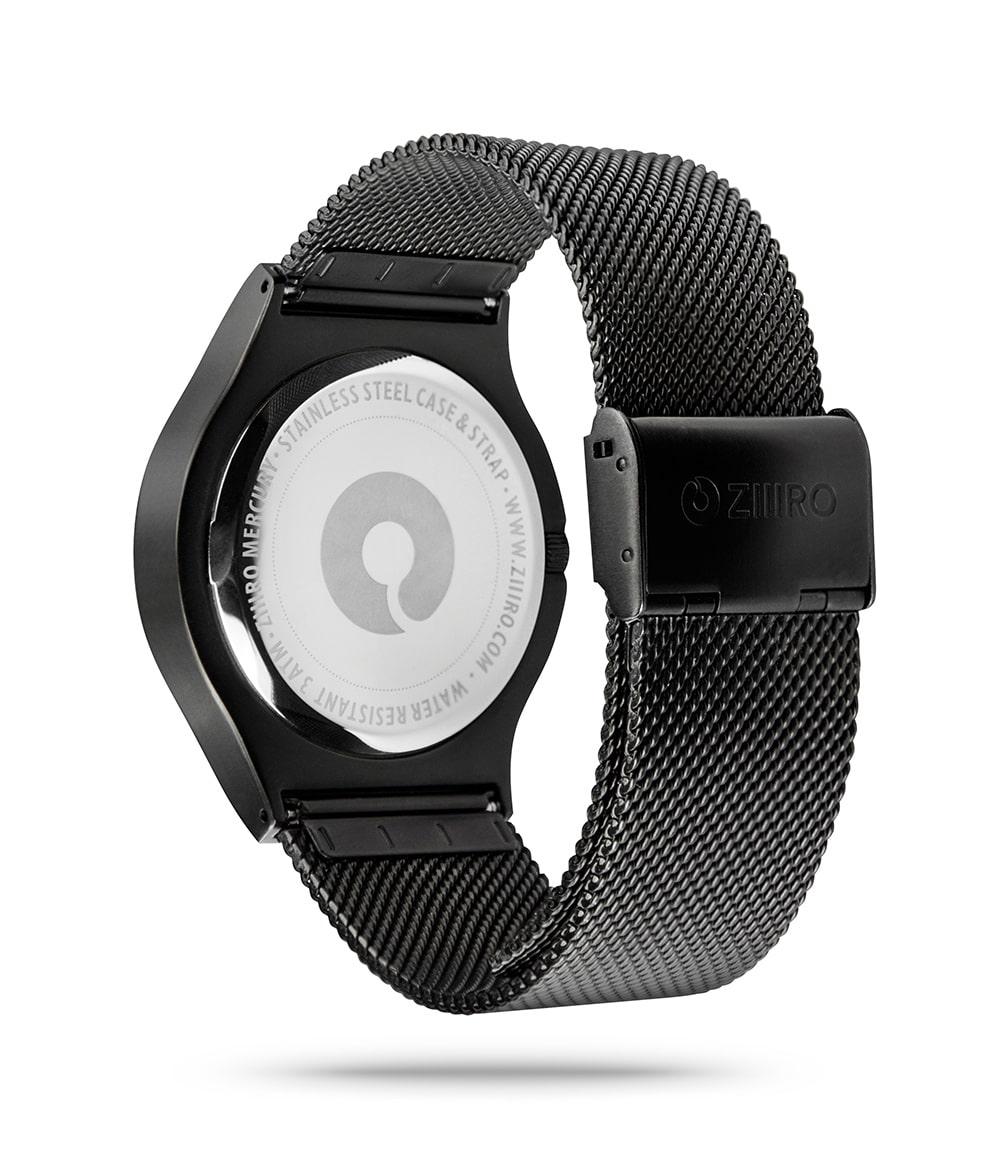 ZIIIRO Mercury Black Watch Back