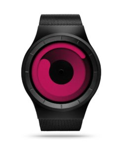ZIIIRO Mercury Black Magenta Watch Front