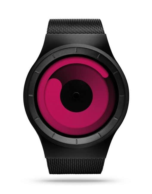 ziiiro-mercury-watch-black-magenta-front