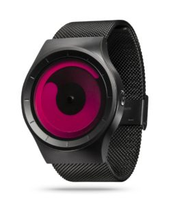 ZIIIRO Mercury Black Magenta Watch Perspective