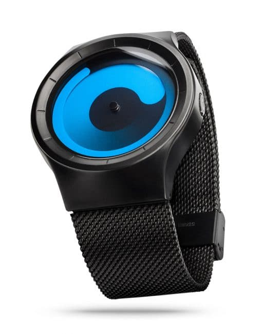 ZIIIRO Mercury Black Ocean Watch Side