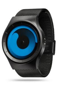 ZIIIRO Mercury Black Ocean Watch Perspective