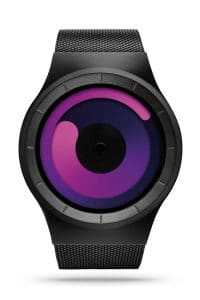 ZIIIRO Mercury Black Purple Watch Front