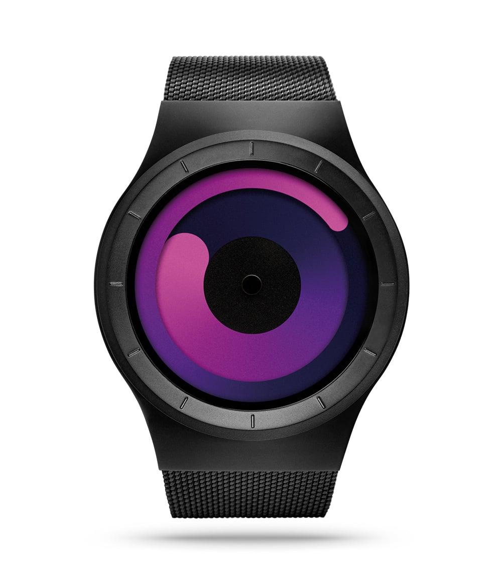 ZIIIRO Mercury Black Purple Watch Front