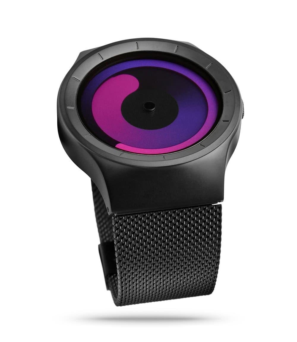 ZIIIRO Mercury Black Purple Watch Side