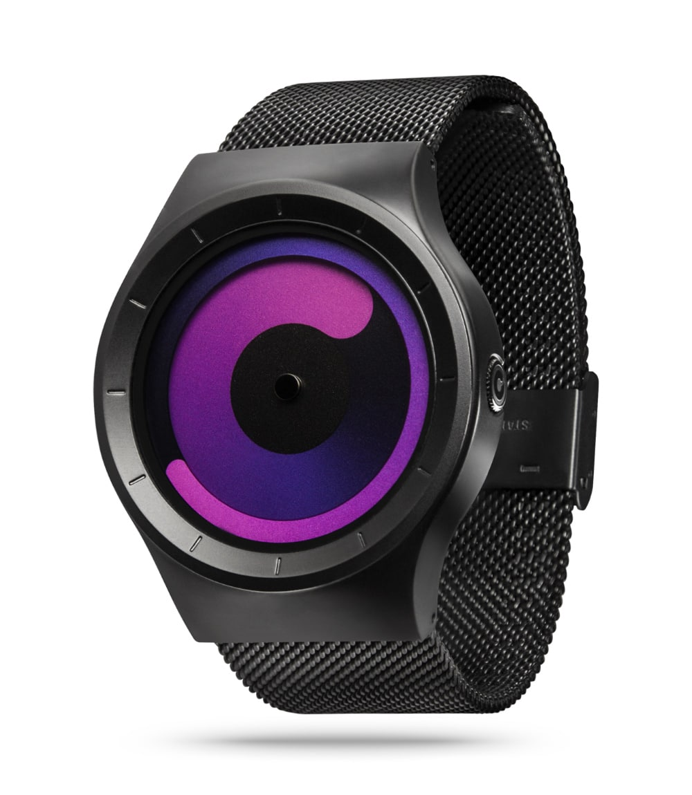 ZIIIRO Mercury Black Purple Watch Perspective