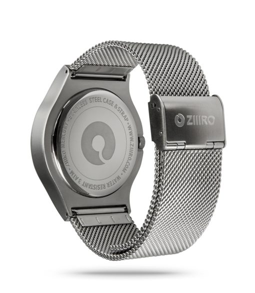 ZIIIRO Mercury Chrome Watch Back