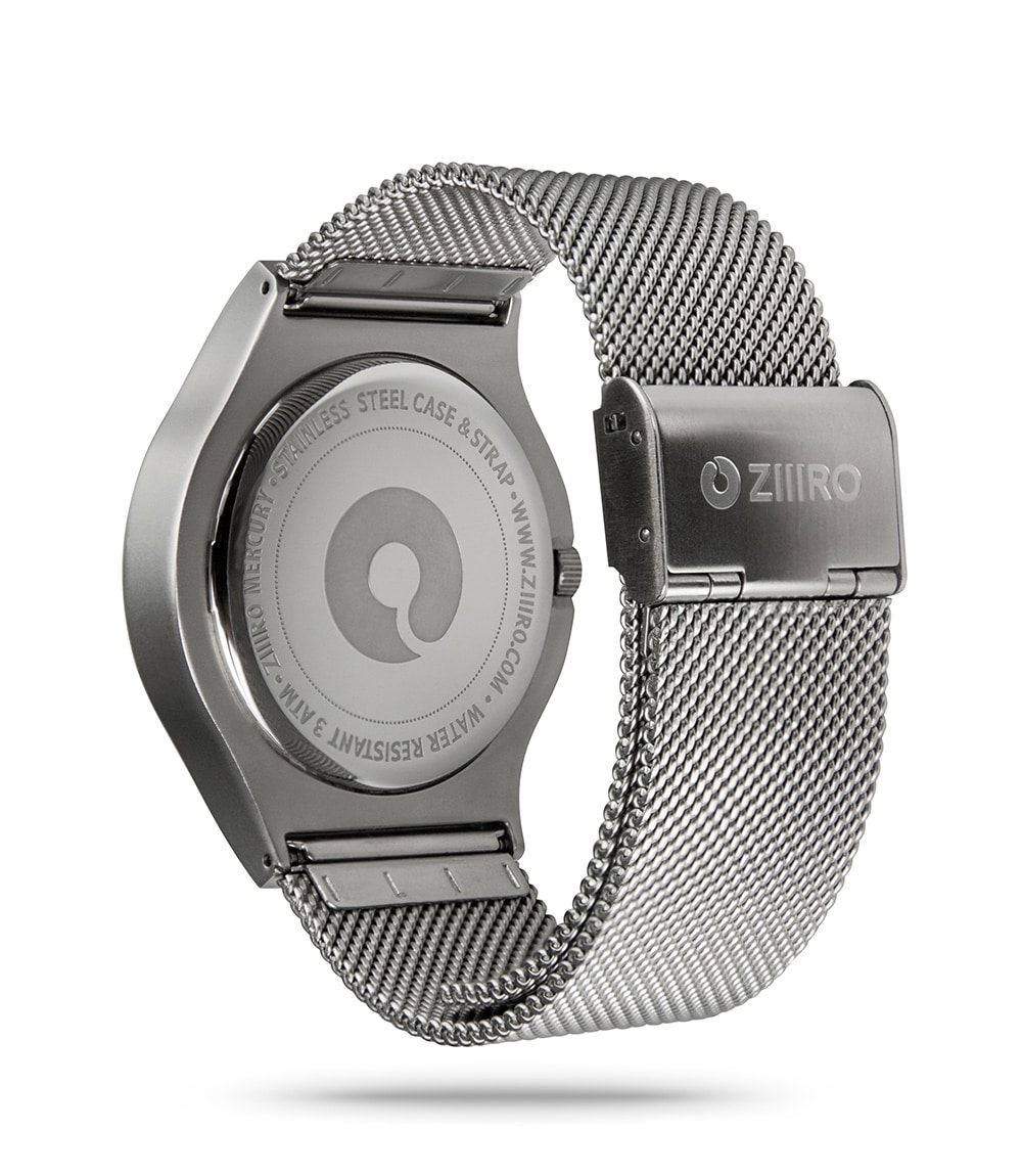 ZIIIRO Mercury Chrome Watch Back