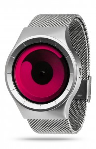 ZIIIRO Mercury Chrome Magenta Watch Perspective