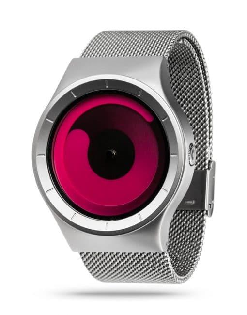 ZIIIRO Mercury Chrome Magenta Watch Perspective