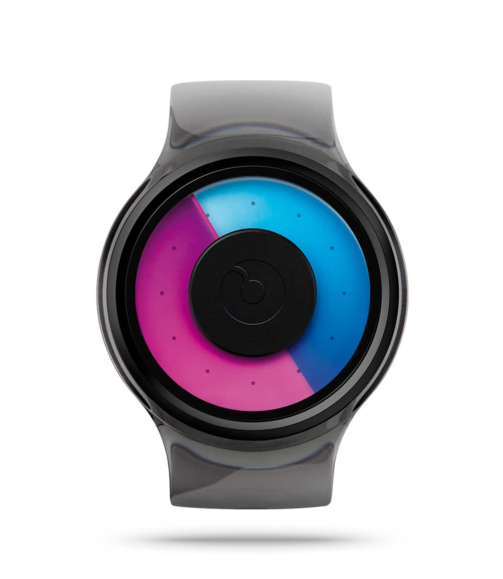 ZIIIRO Proton Black Purple Watch Front Interchangeable