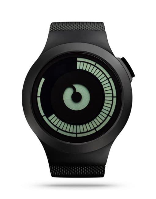 ziiiro-saturn-watch-black-front