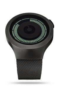 ZIIIRO Saturn Black Digital Watch