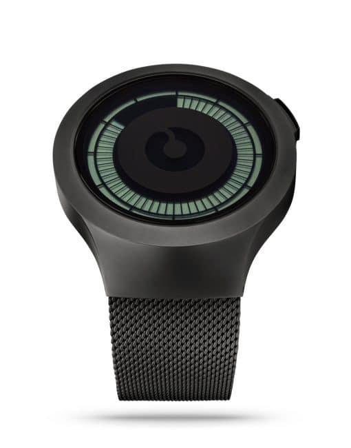 ZIIIRO Saturn Black Digital Watch