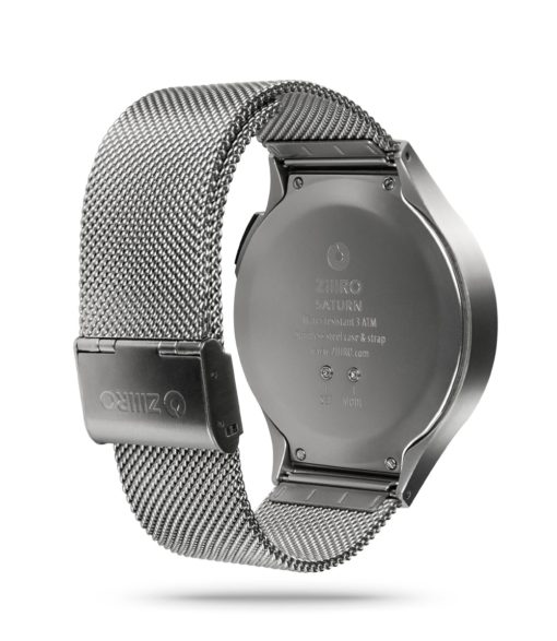 ZIIIRO Saturn Chrome Watch Back Side